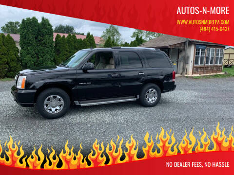 2006 Cadillac Escalade for sale at Autos-N-More in Gilbertsville PA