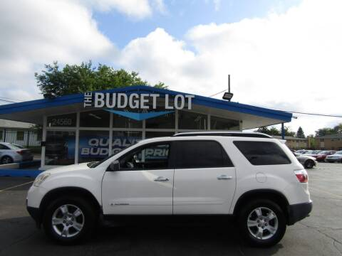 2008 GMC Acadia for sale at THE BUDGET LOT in Detroit MI