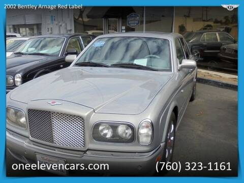 2002 Bentley Arnage for sale at One Eleven Vintage Cars in Palm Springs CA