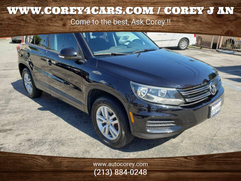 2013 Volkswagen Tiguan for sale at WWW.COREY4CARS.COM / COREY J AN in Los Angeles CA