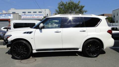 2017 Infiniti QX80 for sale at AFFORDABLE MOTORS OF BROOKLYN in Brooklyn NY