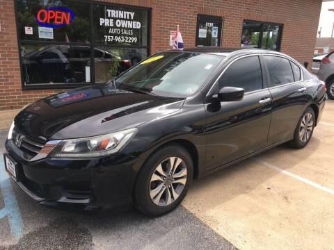 2013 Honda Accord for sale at Bankruptcy Car Financing in Norfolk VA