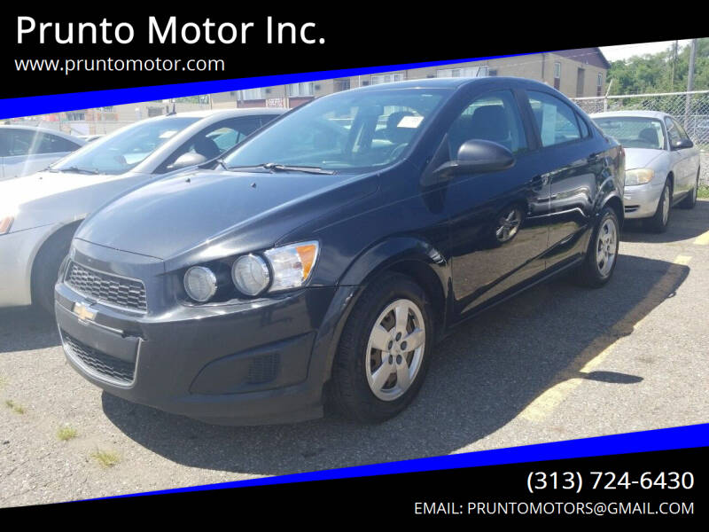 2014 Chevrolet Sonic for sale at Prunto Motor Inc. in Dearborn MI