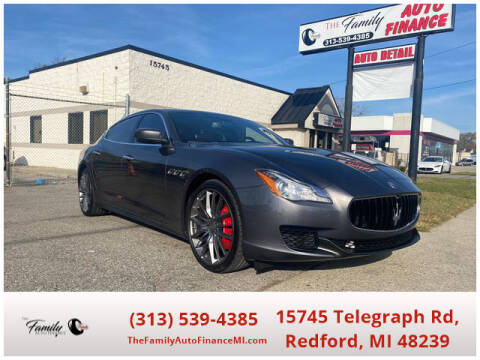 2016 Maserati Quattroporte for sale at The Family Auto Finance in Redford MI