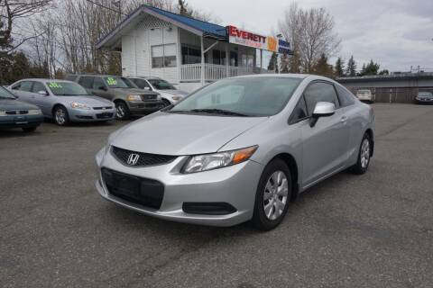 2012 Honda Civic for sale at Leavitt Auto Sales and Used Car City in Everett WA