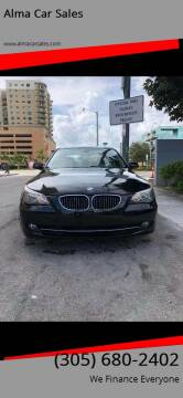 2008 BMW 5 Series for sale at Alma Car Sales in Miami FL