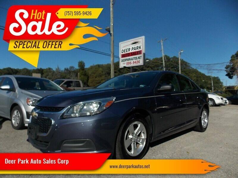 2015 Chevrolet Malibu for sale at Deer Park Auto Sales Corp in Newport News VA