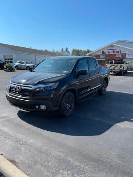 2019 Honda Ridgeline for sale at DANSVILLE AUTO MART INC in Dansville NY