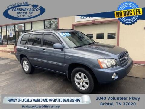 2001 Toyota Highlander for sale at PARKWAY AUTO SALES OF BRISTOL in Bristol TN