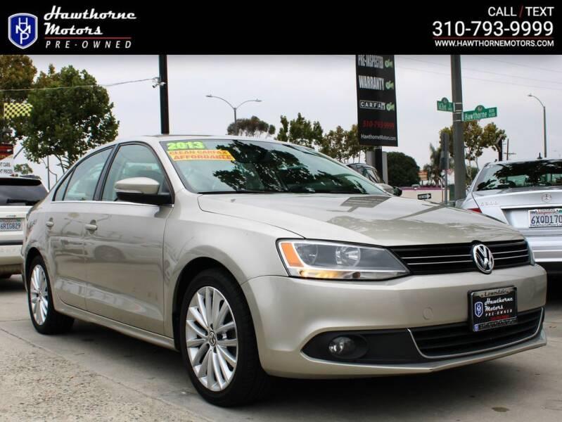 2013 Volkswagen Jetta for sale at Hawthorne Motors Pre-Owned in Lawndale CA