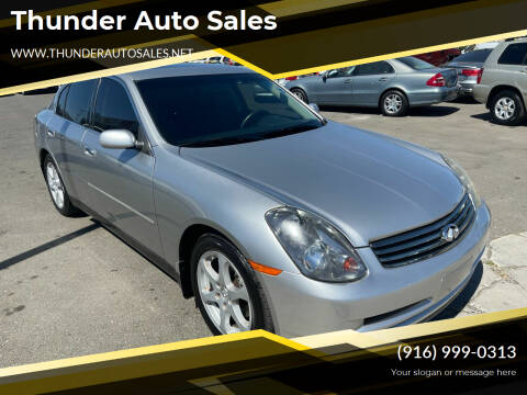 2004 Infiniti G35 for sale at Thunder Auto Sales in Sacramento CA