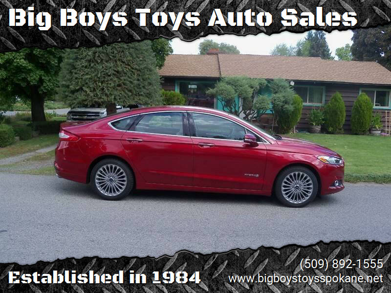 2014 Ford Fusion Hybrid for sale at Big Boys Toys Auto Sales in Spokane Valley WA