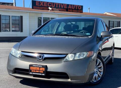 2008 Honda Civic for sale at Executive Auto in Winchester VA