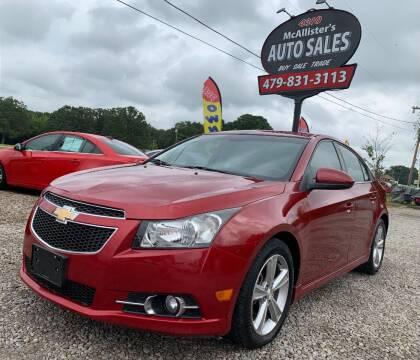 2016 Chevrolet Cruze Limited for sale at McAllister's Auto Sales LLC in Van Buren AR