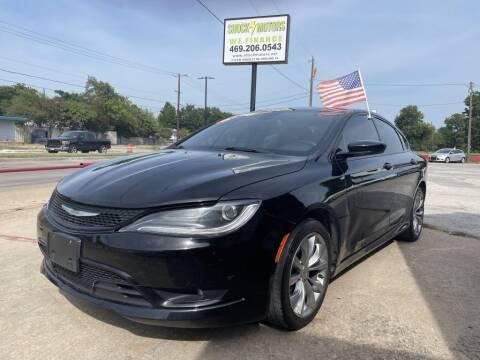 2016 Chrysler 200 for sale at Shock Motors in Garland TX