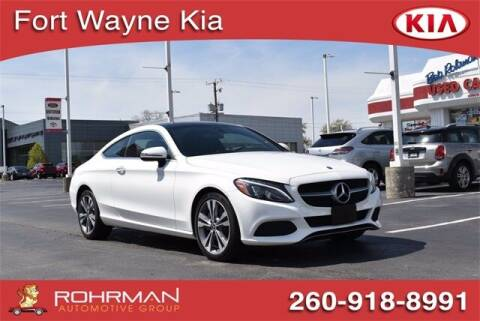 2018 Mercedes-Benz C-Class for sale at BOB ROHRMAN FORT WAYNE TOYOTA in Fort Wayne IN