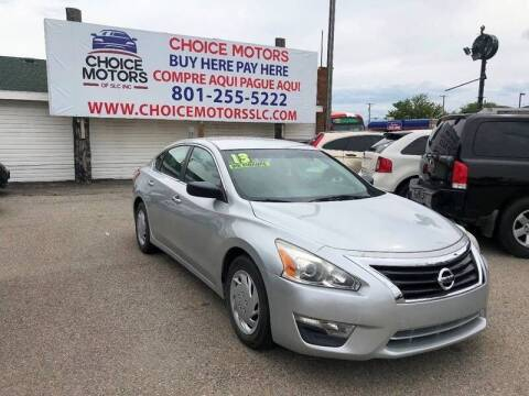 2013 Nissan Altima for sale at Choice Motors of Salt Lake City in West Valley  City UT