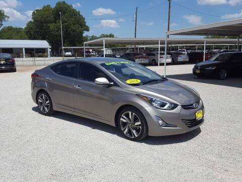 2016 Hyundai Elantra for sale at Bostick's Auto & Truck Sales in Brownwood TX