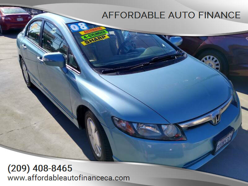 2008 Honda Civic for sale at Affordable Auto Finance in Modesto CA