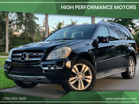 2011 Mercedes-Benz GL-Class for sale at HIGH PERFORMANCE MOTORS in Hollywood FL