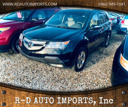2009 Acura MDX for sale at R-D AUTO IMPORTS, Inc in Charlotte NC