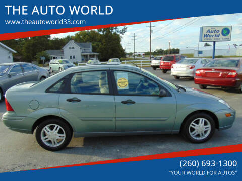 2003 Ford Focus for sale at THE AUTO WORLD in Churubusco IN