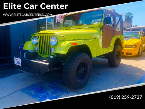 1975 Jeep CJ-5 for sale at Elite Car Center in Spring Valley CA