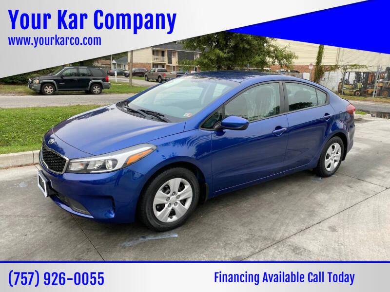 2018 Kia Forte for sale at Your Kar Company in Norfolk VA