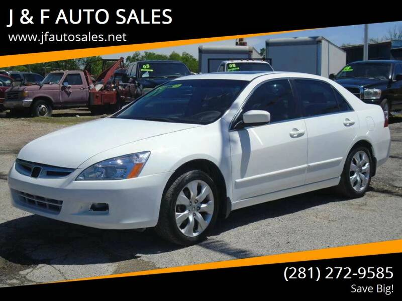 2007 Honda Accord for sale at J & F AUTO SALES in Houston TX