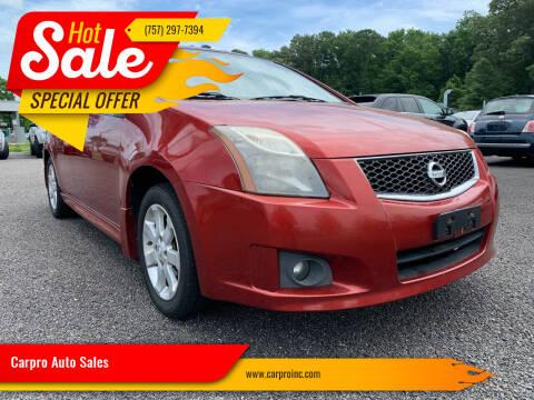 2010 Nissan Sentra for sale at Carpro Auto Sales in Chesapeake VA
