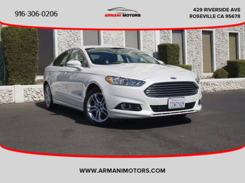 2016 Ford Fusion Energi for sale at Armani Motors in Roseville CA