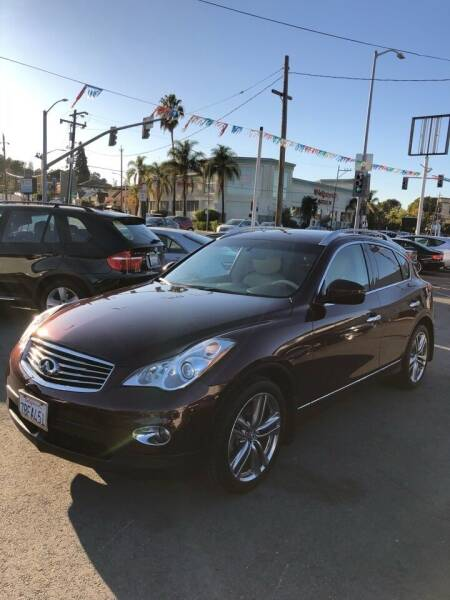 2013 Infiniti EX37 for sale at Car House in San Mateo CA