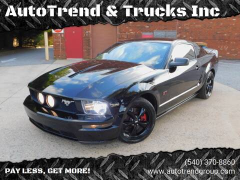 2008 Ford Mustang for sale at AutoTrend & Trucks Inc in Fredericksburg VA