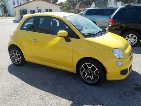 2012 FIAT 500 for sale at SEBASTIAN AUTO SALES INC. in Terre Haute IN