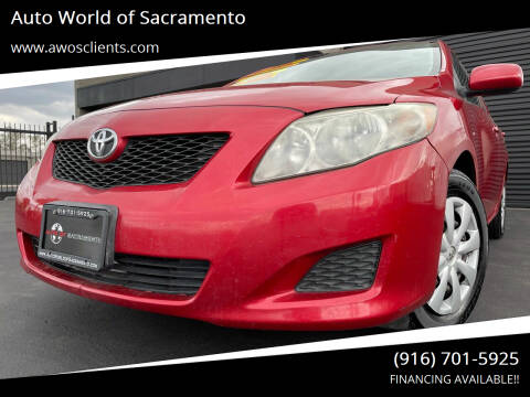 2009 Toyota Corolla for sale at Auto World of Sacramento Stockton Blvd in Sacramento CA