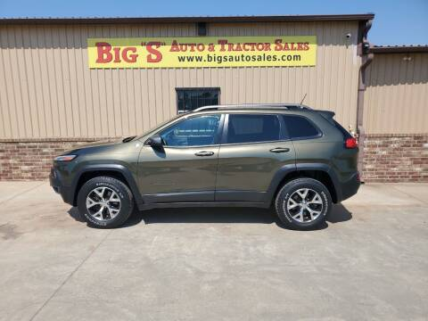 2015 Jeep Cherokee for sale at BIG 'S' AUTO & TRACTOR SALES in Blanchard OK
