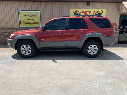 2003 Toyota 4Runner for sale at BIG 'S' AUTO & TRACTOR SALES in Blanchard OK