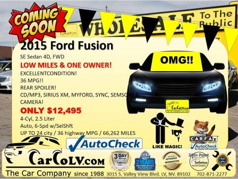 2015 Ford Fusion for sale at The Car Company in Las Vegas NV