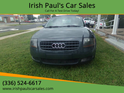 2003 Audi TT for sale at Irish Paul's Car Sales in Burlington NC