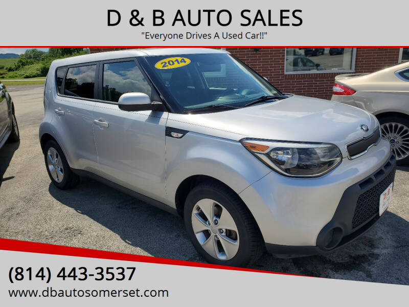 2014 Kia Soul for sale at D & B AUTO SALES in Somerset PA