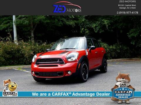 2015 MINI Countryman for sale at Zed Motors in Raleigh NC
