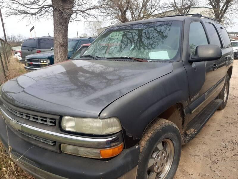 2001 Chevrolet Tahoe for sale at KK Motors Inc in Graham TX