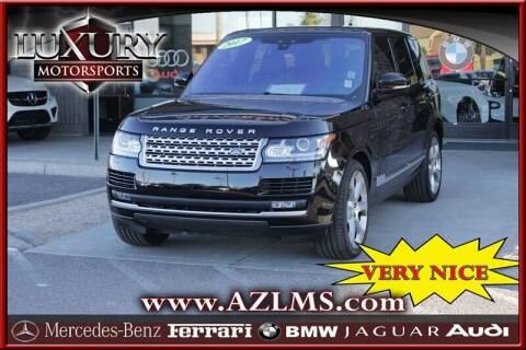 2017 Land Rover Range Rover for sale at Luxury Motorsports in Phoenix AZ
