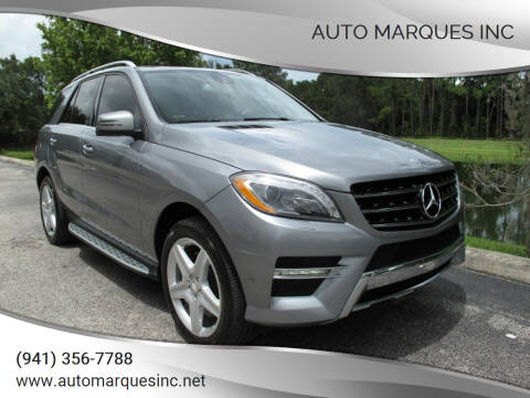 2013 Mercedes-Benz M-Class for sale at Auto Marques Inc in Sarasota FL