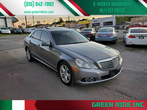 2011 Mercedes-Benz E-Class for sale at Green Ride Inc in Nashville TN
