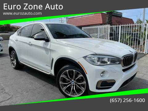 2016 BMW X6 for sale at Euro Zone Auto in Stanton CA