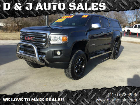 2016 GMC Canyon for sale at D & J AUTO SALES in Joplin MO