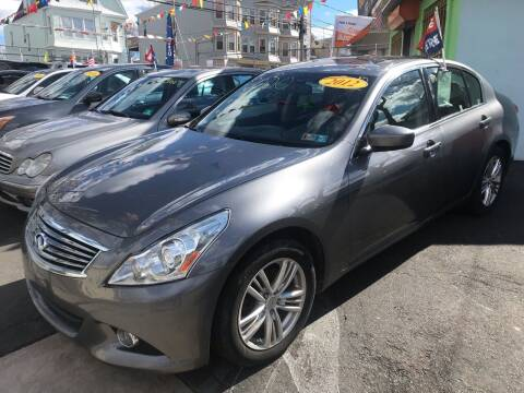 2012 Infiniti G37 Sedan for sale at Best Cars R Us LLC in Irvington NJ