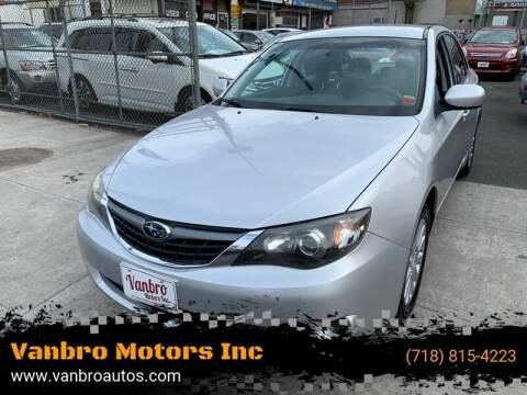 2008 Subaru Impreza for sale at Vanbro Motors Inc in Staten Island NY