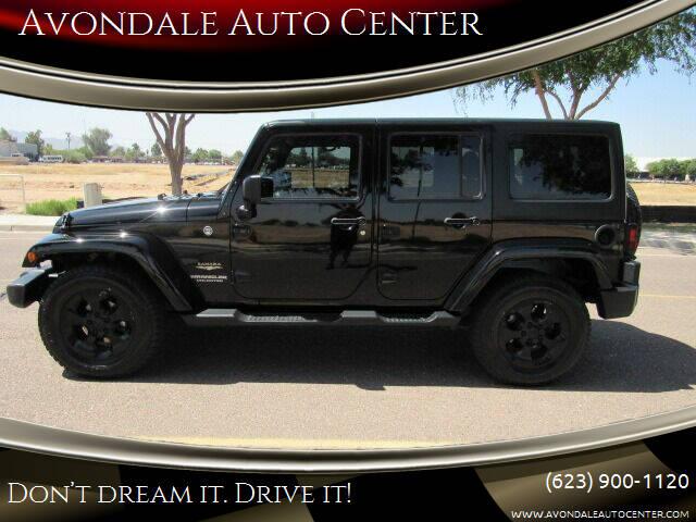 2015 Jeep Wrangler Unlimited for sale at Avondale Auto Center in Avondale AZ